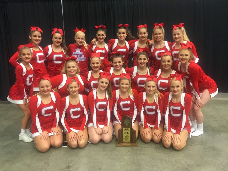 SCHS Cheerleaders - KHSAA 15th Region Large Division Cheer Champions Headed to State Championship Decemeber 10 at Altech Arena in Lexington, KY